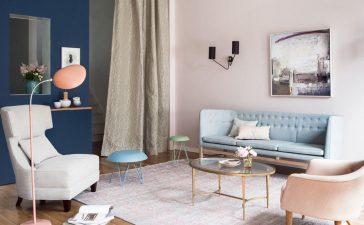 ألوان طلاء حائط بدرجات باستيل لإطلالة ديكور ناعمة