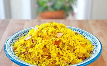 كيفية تجهيز أرز بالزعفران والبطاطا