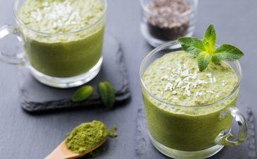 خطوات تجهيز سموثي الشاي الأخضر