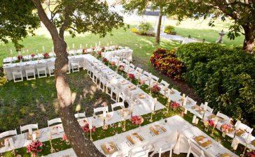 حفل زفاف في حديقة