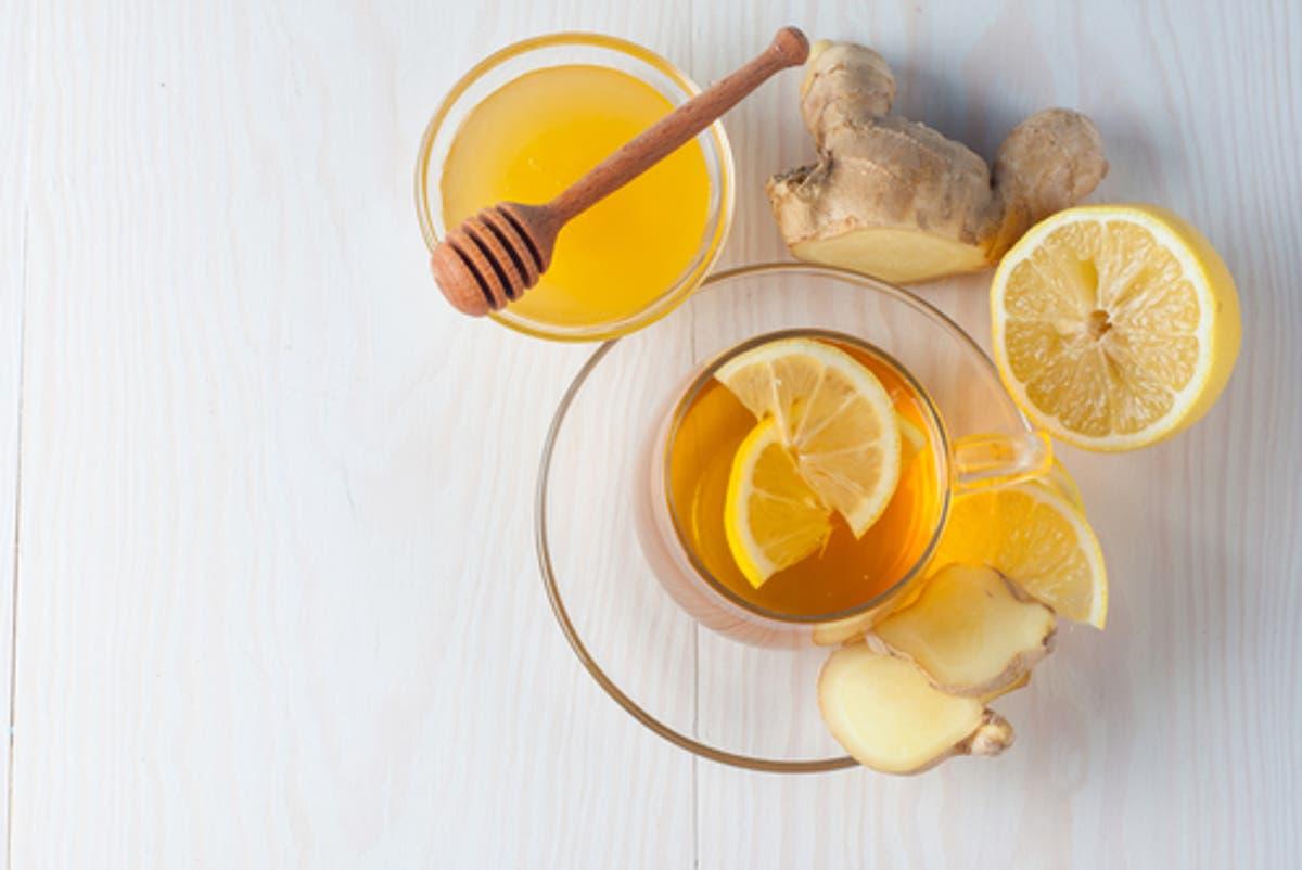 مشروب الليمون والزنجبيل