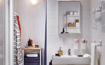 ديكورات عصرية باللون الأبيض للحمامات الصغيرة 2021