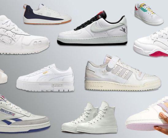 أحدث موديلات الأحذية الرياضية البيضاء لخريف 2021